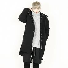 Rememberclick - Hoodie Padded Long Zip-Up Jacket