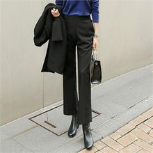 ZIZIBEZIRONG - Band-Waist Boot-Cut Dress Pants