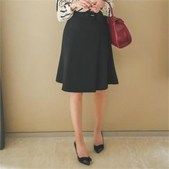 ode' - A-Line Skirt with Belt