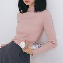 Cloud Nine - Mock-Turtleneck Rib-Knit Sweater