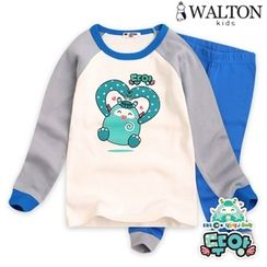WALTON kids - Kids Pajama Set: Raglan-Sleeve Top + Pants