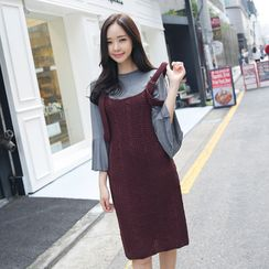 Envy Look - Rib-Knit Jumper Dress