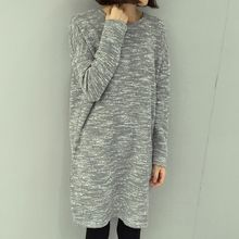 Rocho - Melange Fleece-Lined Knit Dress