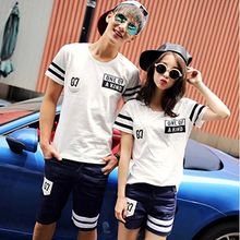 belle epoque - Couple Matching Stripe Short-Sleeve T-Shirt