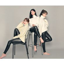 HOTPING - Fleece-Lined Faux-Leather Leggings