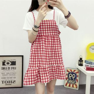Glen Glam - Gingham Strap Dress