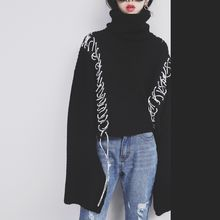 Sonne - Lace-Up Turtleneck Sweater