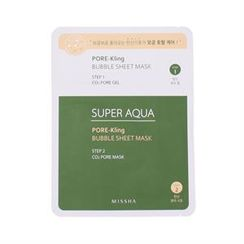 Missha - Super Aqua Pore-kling Bubble Sheet Mask 1pc