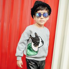 Lemony dudu - Kids Embroidered Dog Sweatshirt