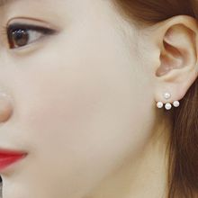 Zundiao - 2-Way Faux Pearl Ear Jackets
