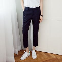 Yumerakka - Cropped Dress Pants