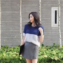 ERANZI - Color-Block Furry-Knit Top