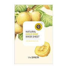 The Saem - Natural Gold Kiwi Mask Sheet 1pc