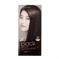 The Face Shop - Stylist Silky Hair Color Cream (#3N Black Brown) 130ml