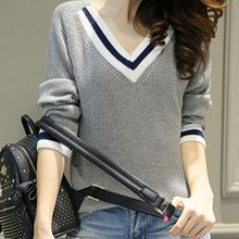 lilygirl - V-neck Knit Top