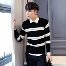 Orizzon - Long-Sleeve Striped Knit Top