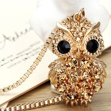 Glitglow - Rhinestone Owl Necklace