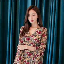 Babi n Pumkin - Surplice-Wrap Bell-Sleeve Floral-Pattern Dress