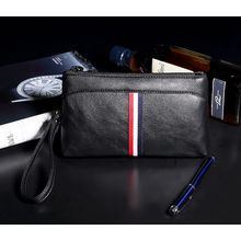 TESU - Stripe Faux Leather Clutch