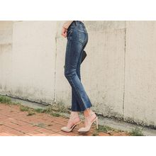 UUZONE - Fray-Hem Boot-Cut Jeans