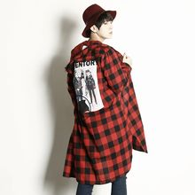 Rememberclick - Print-Back Long Check Shirt