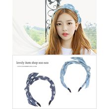 soo n soo - Polka-Dot Denim Hairband