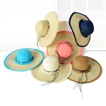 Eva Fashion - Color Block Straw Hat