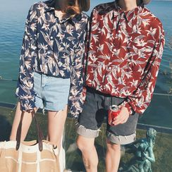 Bestrooy - Couple Matching Floral Print Shirt