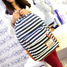 Seok - Striped Canvas Backpack