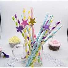 Bake & Give - Set of 6: Heart-Accent Drinking Straw