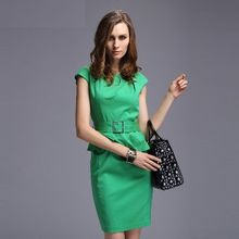 Ameous - Short-Sleeve Peplum Dress