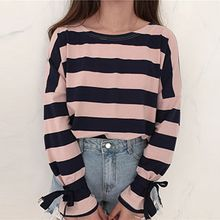 Dute - Stripe Bow Long-Sleeve T-shirt
