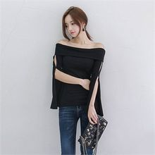 Babi n Pumkin - Off-Shoulder Slit-Side Top