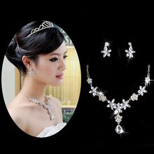 P-BRIDE - Set: Rhinestone Necklace + Earrings