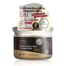 SKIN FACTORY - Seven Seconds Platinum Rose Wine Ampoule Mask 10pcs