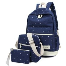 Crystal - Set: Dotted Backpack + Bodycross Bag + Pouch