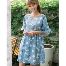 Dowisi - Short-Sleeve Floral Dress