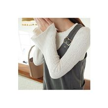 CHERRYKOKO - Bell-Sleeve Rib-Knit Top