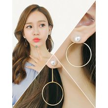 soo n soo - Asymmetric Faux-Pearl Ring Earrings