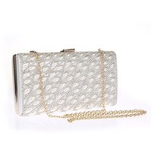 Glam Cham - Faux Pearl Accent Clutch