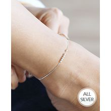 Miss21 Korea - Silver Ball Chain Anklet