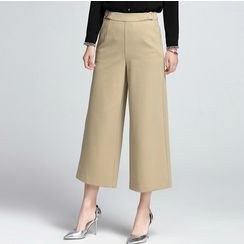 Sentubila - Cropped Wide Leg Pants