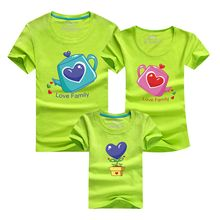 Panna Cotta - Family Matching Heart Print Short-Sleeve T-Shirt