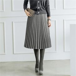 JOAMOM - Band-Waist Accordion-Pleat Skirt