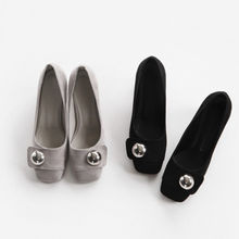 NIPONJJUYA - Square-Toe Metal-Accent Pumps