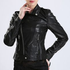BOHIN - Faux Leather Biker Jacket