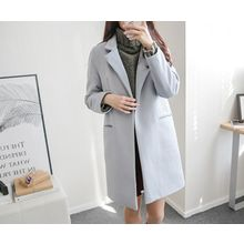 demavie - Notched-Lapel One-Button Coat