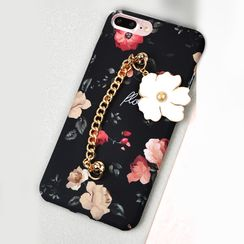 Kindtoy - Chained Floral Print Mobile Case - iPhone 7 / 7 Plus