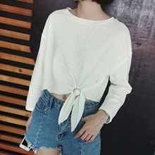 Cloud Nine - Long-Sleeve Tie Waist T-Shirt