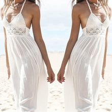 D.E Fashion - Halter Open Back Maxi Dress